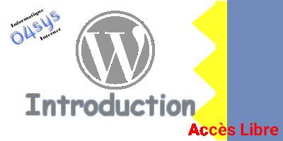 Introduction à WordPress