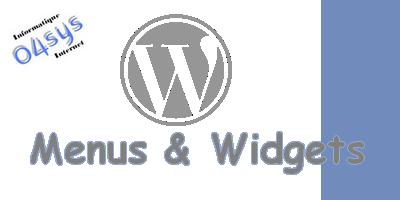 Menus et Widgets